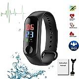 Fitness Tracker 0.96 pollici schermo intelligente Wristband impermeabile attività salute tracker con frequenza cardiaca pressione sanguigna ossigeno sonno monitor calorie contapassi
