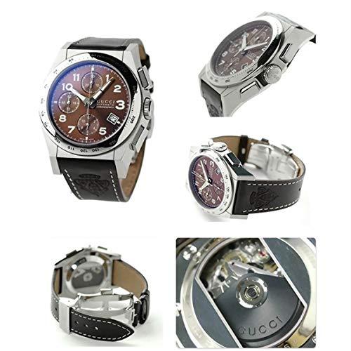 Reloj GUCCI Pantheon CRONÓGRAFO AUTOMÁTICO Brown DIAL DE Cuero DE Acero YA115234