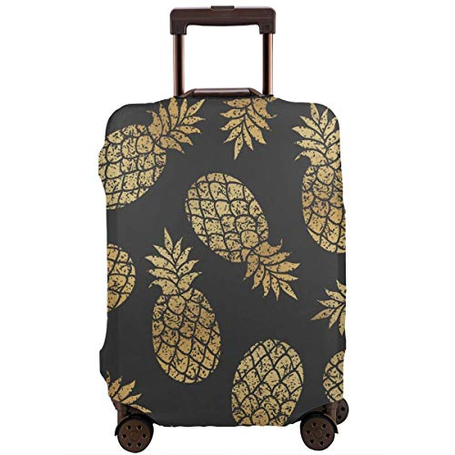 Learn More About Golden Pineapples Travel Luggage Cover Suitcase Protector Washable Baggage Covers 1...