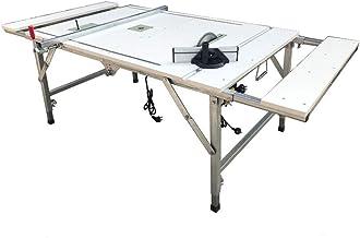 Mesa de carpintería plegable portátil Mesa de carpintería retráctil multifuncional Mesa de trabajo Sierra de mesa