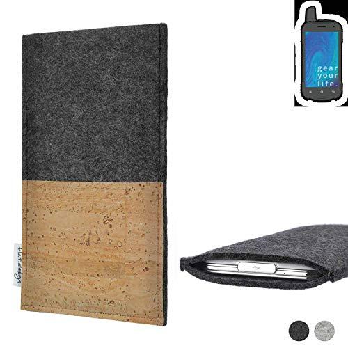 flat.design Handy Tasche Evora für Ruggear RG720 Kartenfach Kork Schutz Hülle passexakt handgefertigt fair