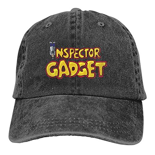 Yuanmeiju Inspector Gadget Trucks Sombrero de algodón Sombrero de Vaquero Gorras de béisbol Negro