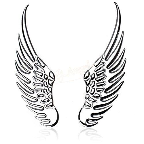 SKS Distribution® 3D Chrom Edelstahl Flügel Hohe Qualität Auto Emblem Aufkleber Badge.