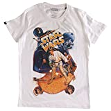 Star Wars - Camiseta de manga corta para hombre (sostenible), blanco, XXL