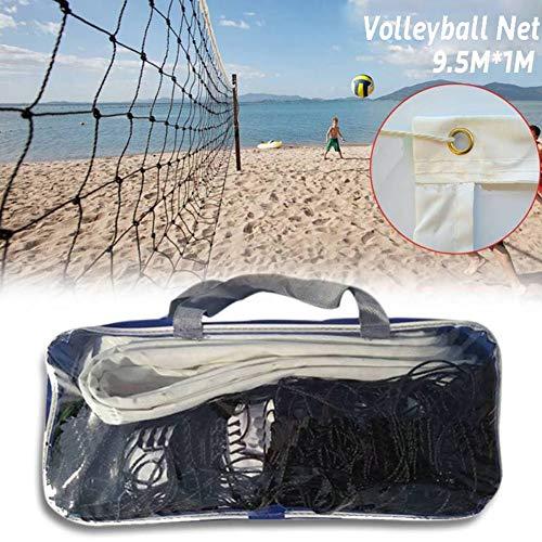 CviAn Red de voleibol para deportes al aire libre, deportiva, para el patio, piscina, playa, voleibol, repuesto, deportiva, 9,5 x 1 m, 28B3B536RTU133Z, 9,5 x 1 m.