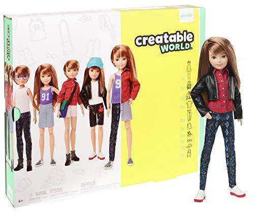 Creatable World GGG53 - Deluxe Charakter Puppen Set, individuell gestaltbare gender neutrale Puppe mit rotblonden, glatten Haaren, Spielzeug ab 6 Jahren