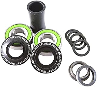 Eastern Bikes BMX Bottom Mid Bracket Kit, 19mm, Matte Black