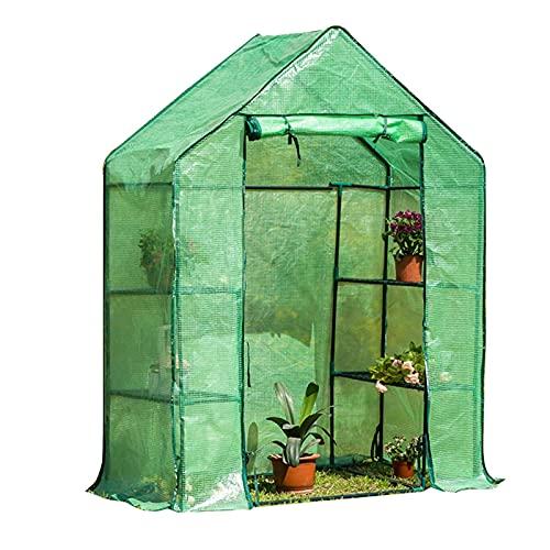 ZXFF Tienda de invernaderas de jardín Grande, Sala de Cultivo de Tomate, Cremallera Doble con 4 estantes, Adecuado for jardín al Aire Libre, jardín de jardín, Invernadero
