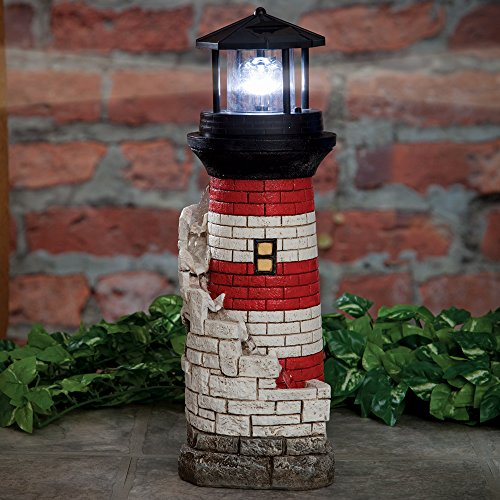 Bits and Pieces - Lighthouse Garden Water Fountain - Peaceful Addition to Your Garden