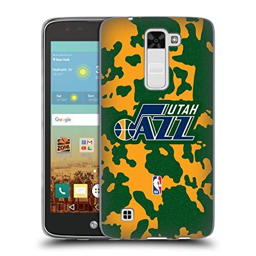 Head Case Designs Oficial NBA Estampado Animal de Vaca Utah Jazz 3 Carcasa de Gel de Silicona Compatible con LG K7 K330 / Tribute 5
