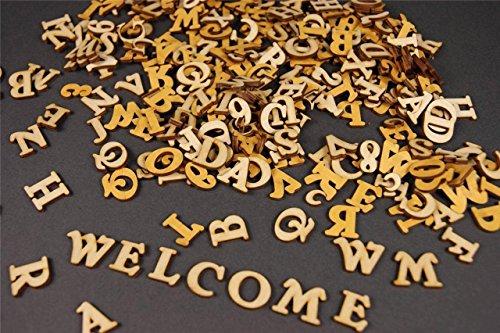 WoMa Kreativ 250+ Holz kleine Buchstaben (1cm) Alphabet Dekoration Selbstklebend (NF17