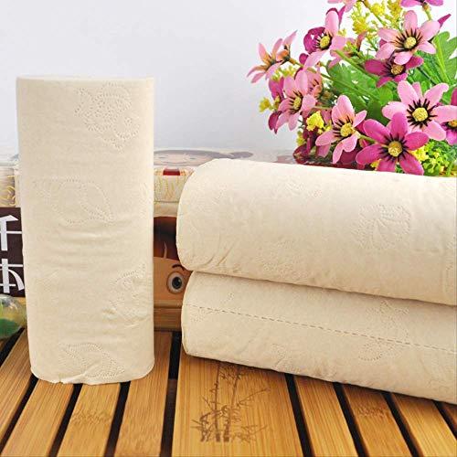 Asciugamani di carta sanitari per servizi igienici di carta rotolo di polpa di bambù primario 36 rotoli