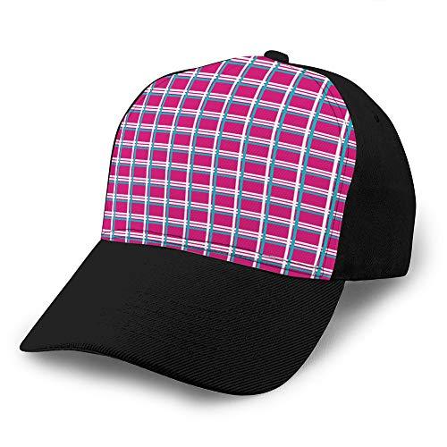 Holefg3b 4 Gorras de béisbol de cuadrícula para Adultos Sombrero de sombrilla Unisex Sombrero de Malla Gorra de Snapback Estilo de Mimbre