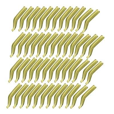 Cimoto 50Pcs/Lot Carp Fishing Hook Sleeve Hair Rig Line Aligner Soft Anti Fishing Kickers/Line Aligners Accessories