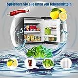 COSTWAY 48L Mini Kühlschrank Kühl-Gefrier-Kombination Flaschenkühlschrank Getränkekühlschrank mit Gefrierfach/wechselbarer Türanschlag / 7 Temperaturstufe einstellbar / 49cm Höhe (Schwarz) - 7