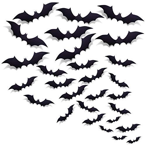 3D Bats Wall Decal Halloween Decora…