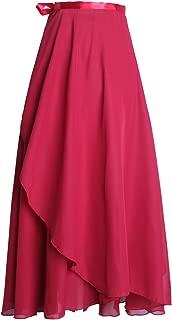 Women's Ballet Skirts Long Sheer Dance Skirts Black 82cm Length with Tie Waist