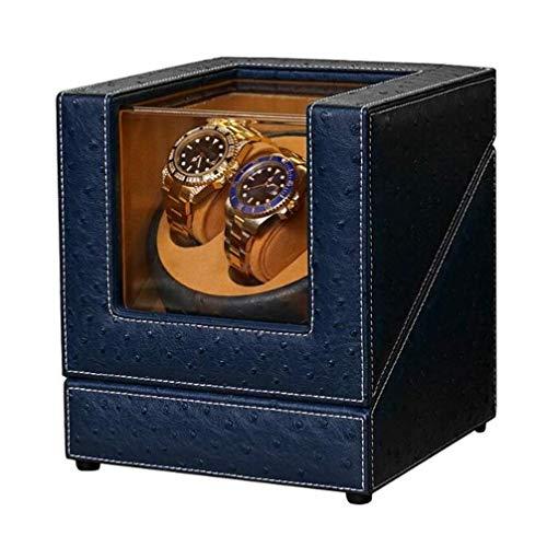 Cajas giratorias para relojes, Caja de reloj Doble enrollador automático de reloj Carcasa de madera, con motor japonés silencioso Mabuchi Cajas de reloj presentes, enrollador automático de reloj LKWK
