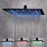 NeierThodore LED 16 Inch Square Shower Head Replacement with Rotatable...