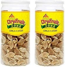 N Nakodas Nakodas Dry Amla Candy Organic 800g (Premium Sweet Indian Gooseberry), 800g, Pack of 2 400gm Jars