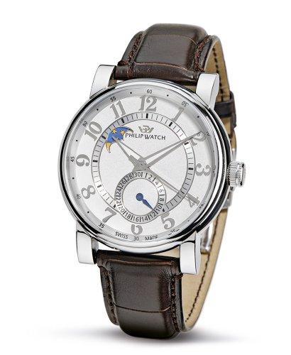 Philip Watch Phillip Watch R8221193115 - Reloj analógico automático para Hombre, Correa de Cuero Color marrón