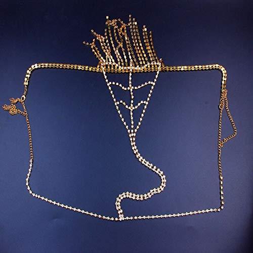 XIAOXX Bikini Kristall Taille Kette , Frauen Sexy Crystal Thong Höschen , Flash Diamant Quaste Schmuck Körperkette