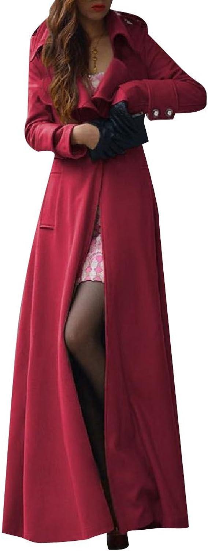 Comaba Women's Long Maxi Fit Flare Eco Fleece Parka Jackets