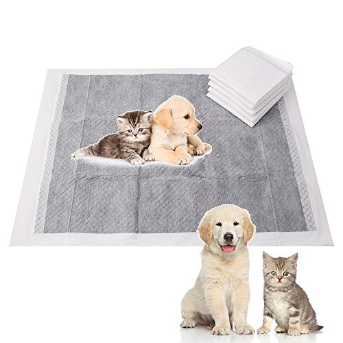 """Tylu 50Pcs Carbon Cat Litter Pads Training and Catheterization Pad Supplies Leak Proof Easy Disposal 233""""x177"""" for Puppies Small Dogs"""