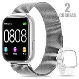 AIMIUVEI Smartwatch, Reloj Inteligente Mujer Hombre IP67 con Pulsómetro, 1.4 Inch...