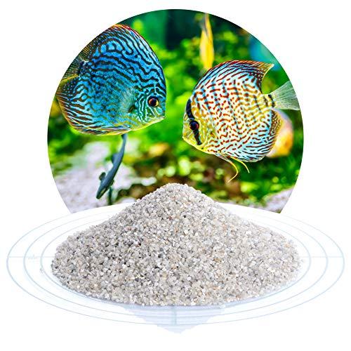 Schicker Mineral Aquariumsand Aquariumkies Natur im 25 kg Sack, kantengerundet, gewaschen, ungefärbt, (1,0-2,0 mm)