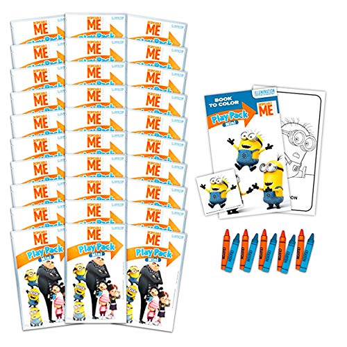 Despicable Me Minions Ultimate Party Favor Bundle - 30 Pack Despicable Me Activity Sets with Stickers, Coloring Books and Crayons (Despicable Me Party Supplies)