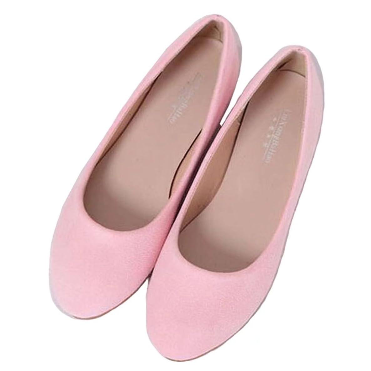 算術バッジ貫通する【ユウエ】パンプス レディース フラットパンプス ローファー ローヒール ぺたんこ フラットシューズ 婦人靴 大きいサイズ 痛くない 014-xz-668-1(34 ピンク)