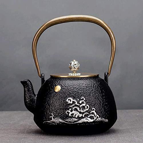 Tea Pot, Retro Handmade Tea Kettle, Small Cast Iron Easy Pour Japanese Tea Maker for Tea House Office Home, 1.3 Litre