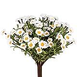 "10 pcs Artificial Daisy Flowers, White Daisy Stems Daisies Bouquet for Home Centerpiece Vase Wedding Decor-14.2"" Tall"
