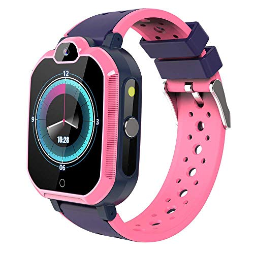 HLKJ Kids Smart Watch, GPS LBS WIFI Locatie Kinderen Smart Klok, IP67 Waterdichte Bluetooth Video Call Smart Band voor Kinderen Gift