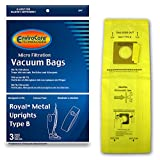 EnviroCare Replacement Micro Filtration Vacuum Cleaner Dust Bags for Royal Upright Type B Uprights 3 Pack