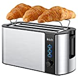 Best 4 Slice Toasters - IKICH 4 Slice Toaster, Stainless Steel, Extra Wide Review