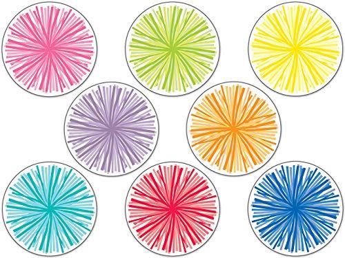 Schoolgirl Style - Hello Sunshine | Poms Colorful Cut-Outs, Classroom Décor, 36 Pieces
