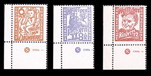 Goldhahn SBZ Nr. 26-28 DZ postfrisch  Druckereizeichen Briefmarken für Sammler
