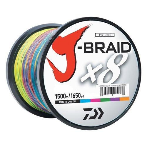 Daiwa J-Braidx8 JB8U80-3000MU Test, 80 lbs Test, Mehrfarbig, 3000 m