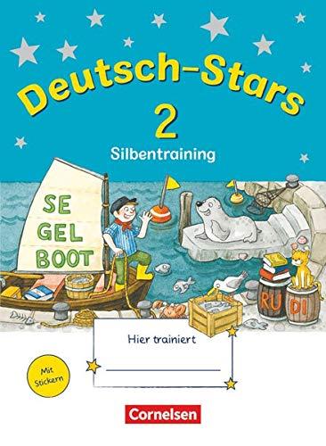 Deutsch-Stars - Allgemeine Ausgabe - 2. Schuljahr: Silbentraining - Übungsheft - Mit Lösungen