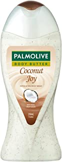 Palmolive Coconut Joy Body Wash, Crème Based Exfoliator with Real Apricot Seeds and Jojoba Butter Extracts - pH Balanced, ...