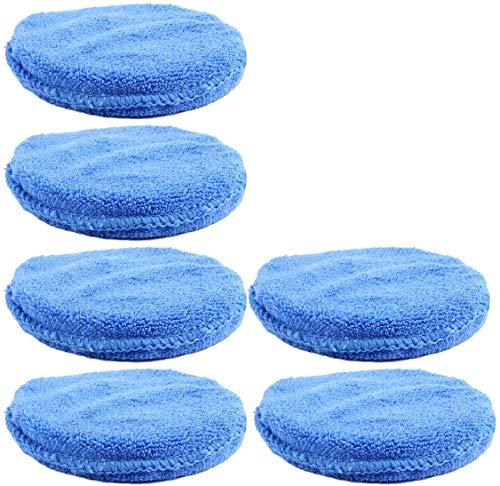 Aplicador de microfibra azul depilación cera cera espuma esponja aplicador almohadillas coche vehículo vidrio limpio 10 unids