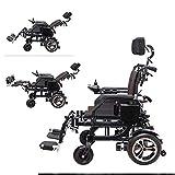 Inicio Accesorios Ancianos Silla de ruedas eléctrica para discapacitados Batería de iones de polímero de gran capacidad (2 baterías 26A) Silla de ruedas eléctrica para movilidad en interiores y ext