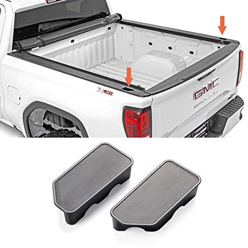 Jaronx Compatible with Chevy Silverado/GMC Sierra Stake Pocket Covers 2019 2020, Truck Bed Rail Stake Odd Shaped Hole Plugs Compatible with Updated Silverado and Sierra 2019-2020