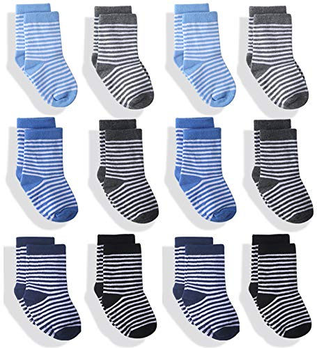 (50% OFF Coupon) Cotton Baby/Toddler Socks 12-Pack $6.50