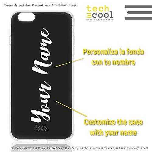 Funnytech® siliconen beschermhoes voor iPhone 7 Plus / 8 Plus [flexibele siliconengel, exclusief design] motief letters 1 vers.2
