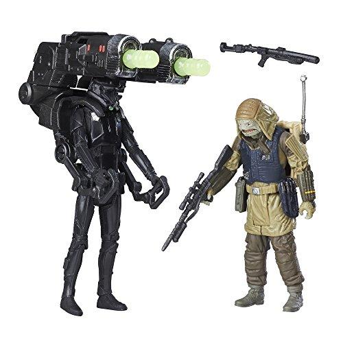 Star Wars B7259 Imperial Death Trooper and Rebel Commando Pao - Juego de Figuras de acción de 3.75 Pulgadas
