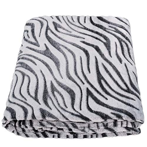 "Sochow Uragiri - Coperta in flanella, calda e leggera, super morbida 60\""×80\"" Zebra nera."