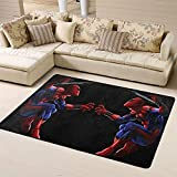 Zmacdk Alfombrilla antideslizante para sala de estar, alfombrilla antideslizante para habitación de juegos de niños, dormitorio de 6 x 7 pies (180 x 210 cm), Spiderman